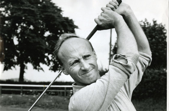 John Boath, duirng his time as golf professional at Caird Park.