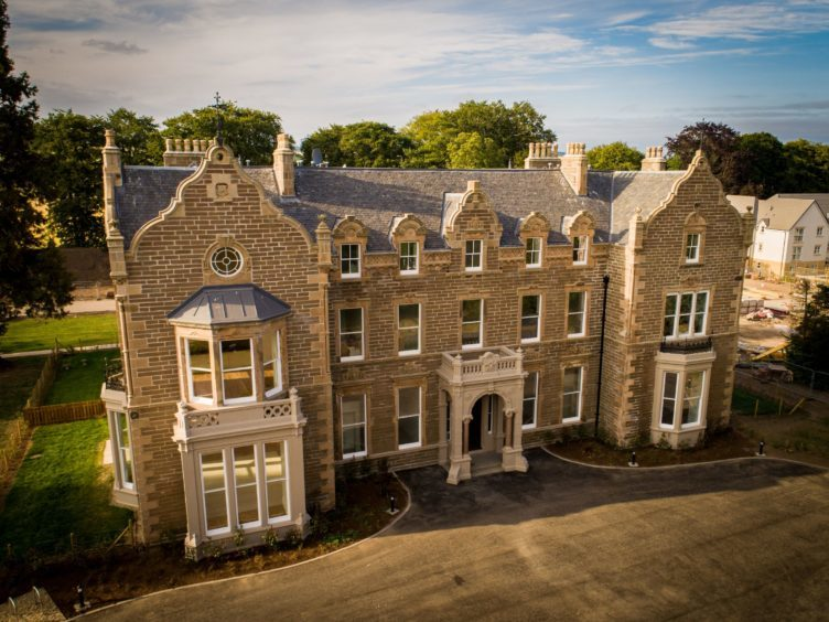 The historic Ashludie House has been converted into amazing apartments