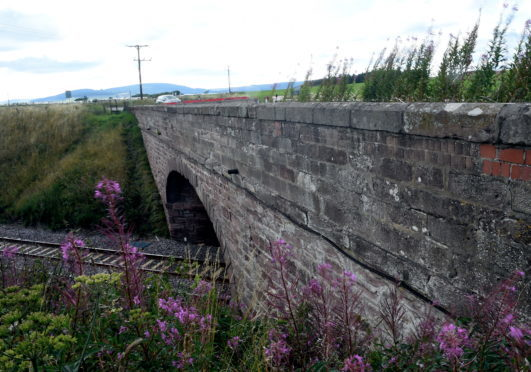The Abbeyton Bridge which was knocked down over Christmas.