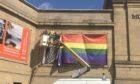 The rainbow flag is installed at Perth Concert Hall plaza ahead of first Perthshire Pride