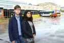 Ben Lawrie and Mariam Mahmood were outside Dundee bus station when the racist attack took place