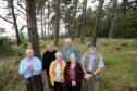 Members of the Dronley Wood Community Group, from left, Roderick Stewart, Scott McDermott, Shiona Baird, Gary Stewart, Linda Cochrane and Ian Wilson.