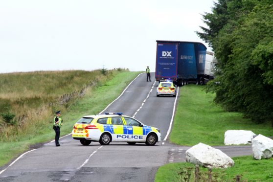 Police sealed off the A823 near Knockhill after the tragedy.