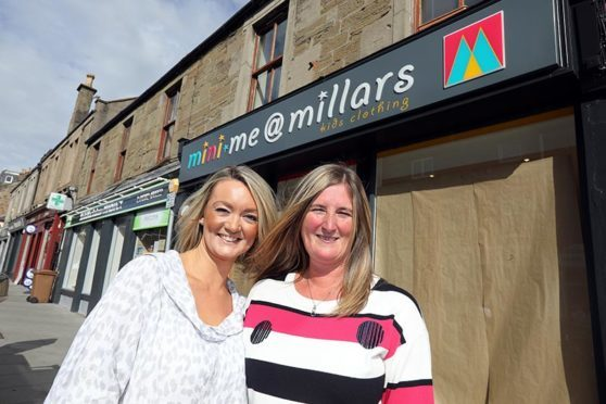 Melanie Mackintosh and Kerry-Lyn Booth outside the new shop.