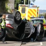Car flips on to roof in Dundee