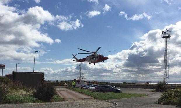 The scene of the incident in Burntisland.