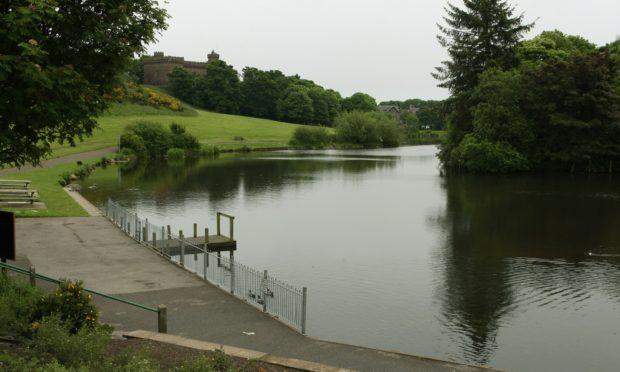 Keptie Pond in Arbroath,.