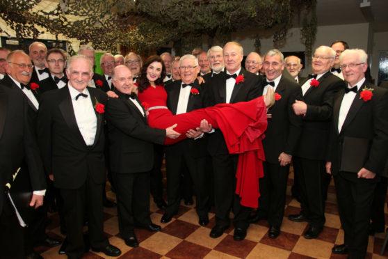 Arbroath Male Voice Choir with Irish classical singer Margaret Keys.