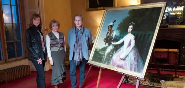 Fiona Bruce and art detective Philip Mould visited the Palace with Lady Mansfield of Scone Palace.