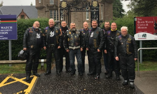 A group of big-hearted bikers took part in wreath laying ceremony at Balhousie Castle, the regimental headquarters and museum of The Black Watch, as part of a fundraising effort to raise £60,000 for Poppyscotland, whilst also commemorating the centenary of the end of the First World War.