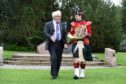 Perth and Kinross Provost Dennis Melloy with Corporal Joanne Ward.