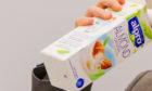Vegan-friendly almond milk.