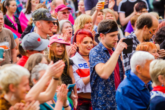 Perth's first ever pride celebration took place on Saturday.
