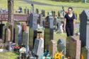 Mrs Davidson at Beath Cemetery