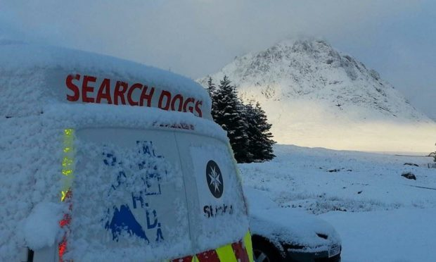 The Tayside Mountain Rescue dog van.
