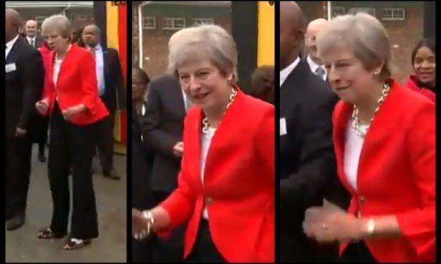 Theresa May's dance moves.