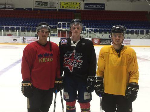 Craig Garrigan (Red), Kris Inglis (Black) and Jordan Cownie (Yellow).