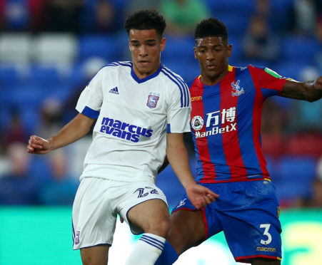 Tristan Nydam in action for Ipswich.
