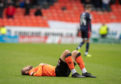 Utter dejection for Dundee United striker Pavol Safranko.