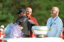 Matt Wallace is embraced by Thomas Bjorn after victory in the Made in Denmark tournament.