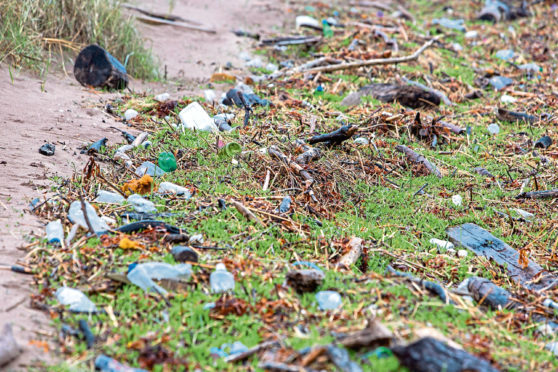 Litter on the beach at Barry Buddon. One correspondent argues that such litter picks should follow correct procedures.