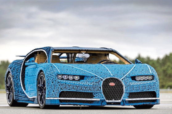 Undated Handout Photo of the Bugatti Chiron replica made out of Lego. See PA Feature MOTORING News. Picture credit should read: Handout/PA. WARNING: This picture must only be used to accompany PA Feature MOTORING News.
