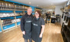 Sammy Reid and husband Ian in the Sea No Waste shop in Arbroath