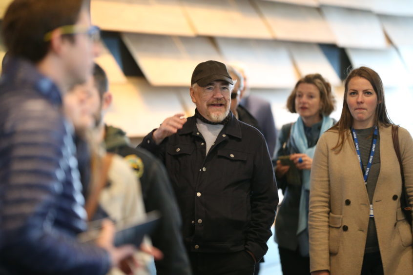 Brian Cox goes inside V&A Dundee on Saturday morning.