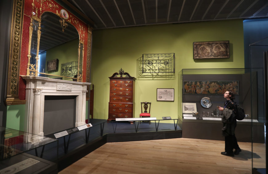 A general view of exhibits in the Scottish Design Galleries.