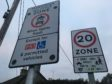 School exclusion zone warning signs.