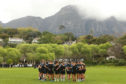 Glasgow Warriors trained yesterday in the shadow of Table Mountain in Cape Town.