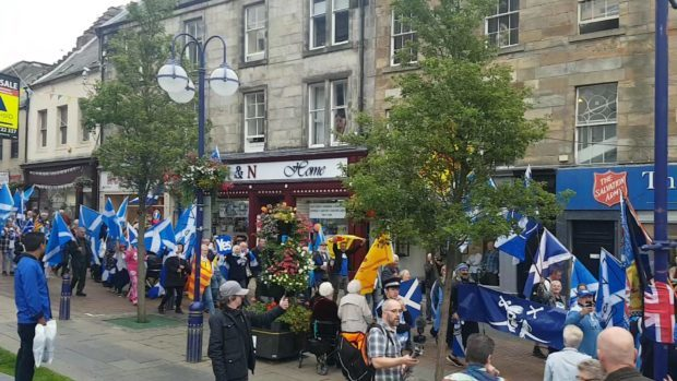 Independence march in Dunfermline on September 1.