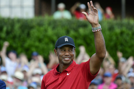Tiger Woods roars again