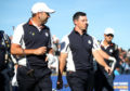 Rory McIlroy and Sergio Garcia set out in practice for the Ryder Cup in Paris.
