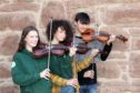 Taking part in the fiddle competition were Rebecca Baker (16) from Arbroath, Alex Mitchell (13) from Carnoustie and; Kit Storm (17) from Carnoustie.