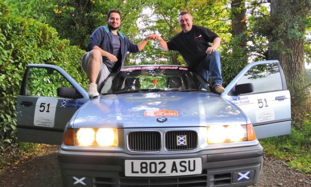 Jake and John will take on the challenge in their BMW.