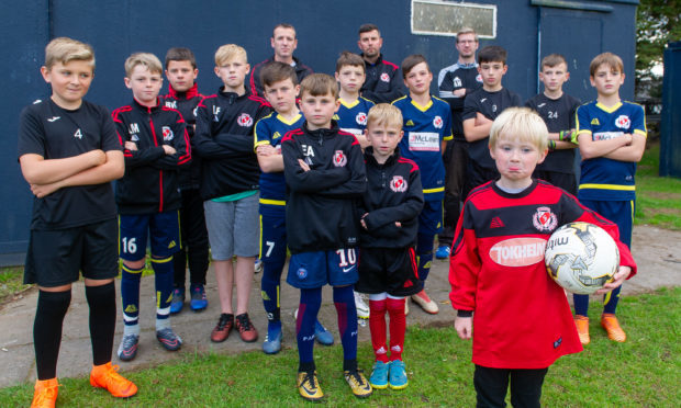The young Carnoustie Panmure footballers were left shocked after thieves broke into their changing rooms