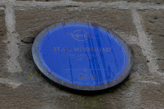 Ethel Moorhead is commemorated in Dundee in the form of a plaque on the corner of King Street and East Marketgait and will now have a street named after her.