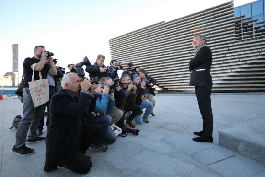 Kengo Kuma outside the V&A. Pic: Kris Miller.