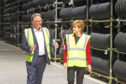 First Minister Nicola Sturgeon on a tour of the Michelin Dundee site in June, 2017.