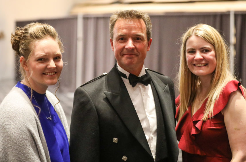 Successful bidders Sarah Scorgie, John Forster and Lynsey Gilbert who won two of the penguins (Penguin Street and Scotland's Sunniest City).