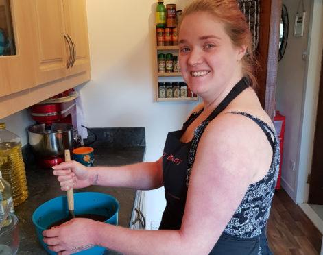 Louise Baxter in her Burntisland kitchen.