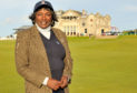 Renee Powell stands on the Old Course during a visit to St Andrews in 2015