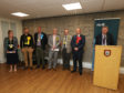 Returning officer Steve Grimmond announces the result at Fife House.
