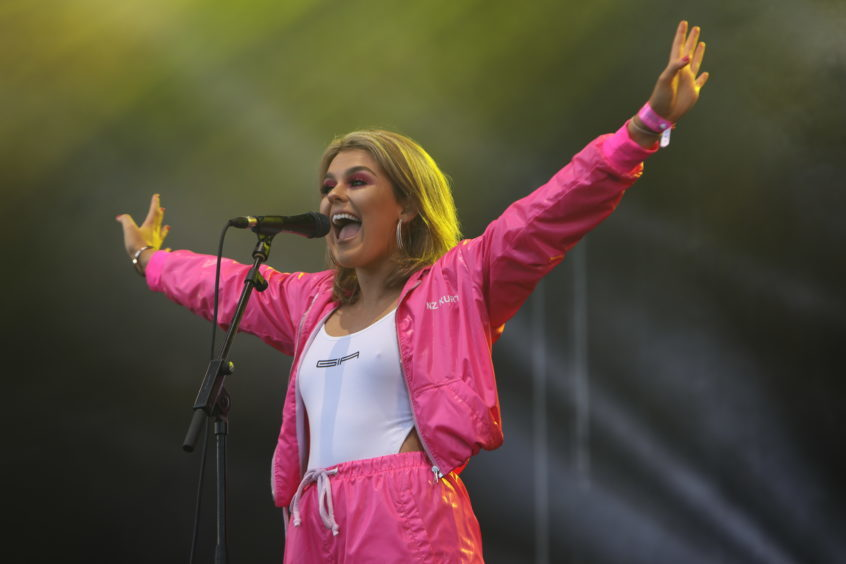 Tallia Storm on stage.