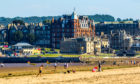 Holiday makers at St Andrews West Sands