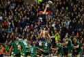 Grant Gilchrist takes this lineout, but the setpiece misfired for Edinburgh against Connacht.