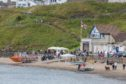 The beach at Kinghorn, where Saturday morning's incident happened.