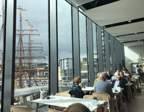 The Tatha Bar and Kitchen offers fine views up the Tay