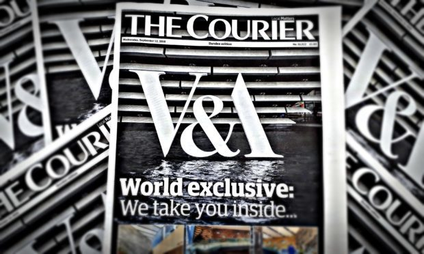 Wednesday's Courier had world exclusive photos from inside V&A Dundee.